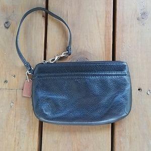 Coach pebbled leather wristlet